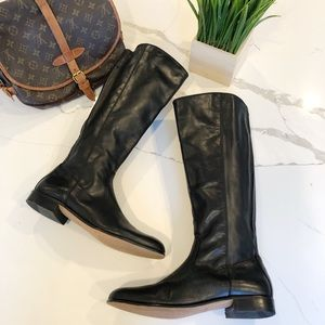 Kenneth Cole NY Tall Black Riding Moto Boots 9.5